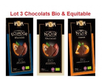 3 Chocolats Bio noir Kaoka