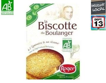 Biscotte Bio Épeautre - Sésame