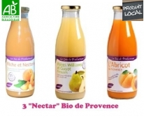 Assortiment 3 Nectar de fruits Bio Pronatura