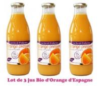 Lot de 3 Jus Bio d'Oranges d'Espagne Pronatura