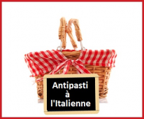Panier antipasti à l'italienne
