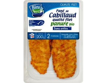 Filets de Cabillaud panés Bio - BleuVert