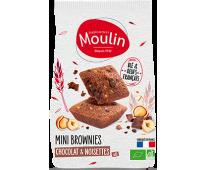 Mini brownies chocolat noisettes - Ets Moulin
