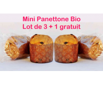 Panettone Bio Mini lot de 3+1 gratuit