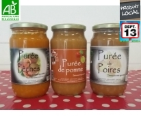 Purée de fruits Bio lot de 3 - Mas Daussan