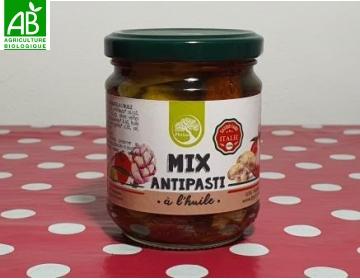 Mix antipasti Bio à l'huile Philia